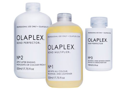 Olaplex® Serie: No. 1 – Bond Multiplier, No. 2 – Bond Perfector, No. 3 – Hair Perfector. (Bild: Olaplex)